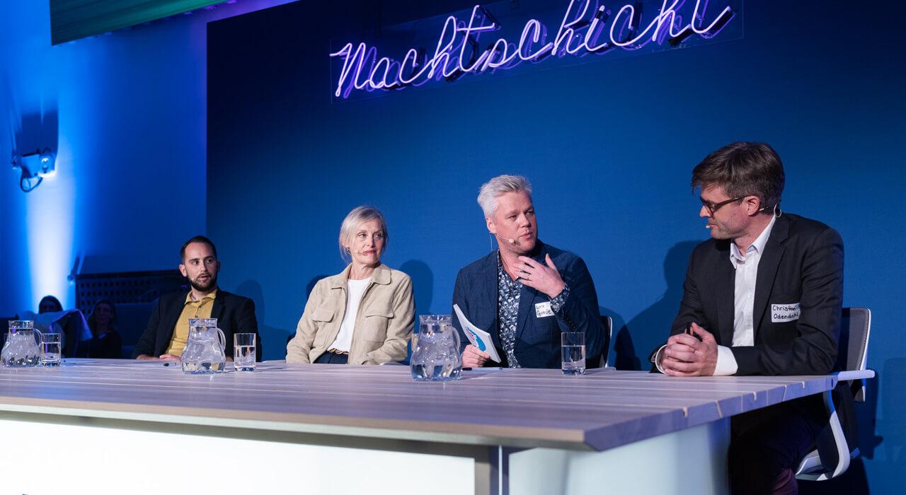 Die Speaker*innen Prof. Dr. Philipp Staab, Dr. Monika Queisser und Christian Odendahl.