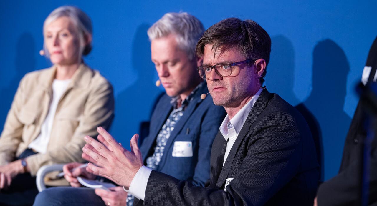 Christian Odendahl bei der Podiumsdiskussion