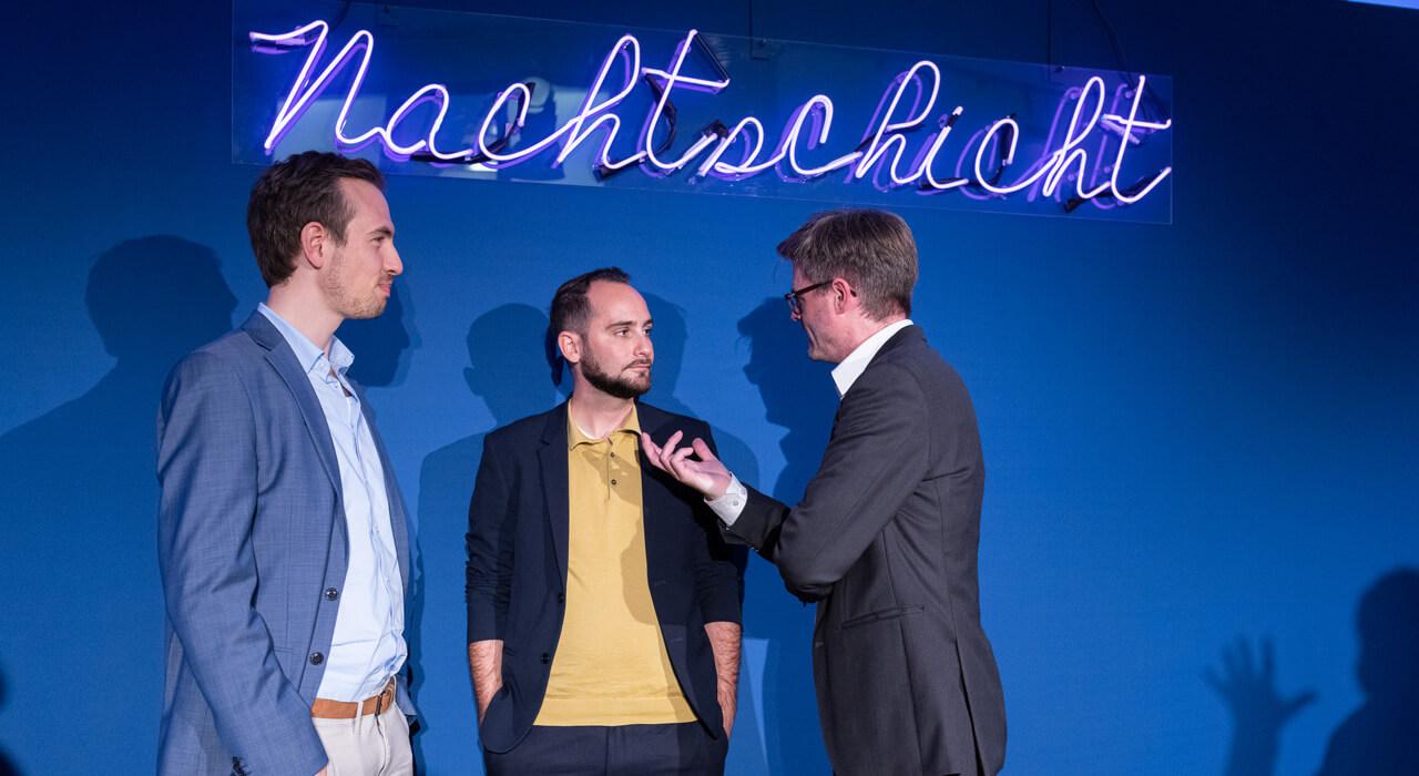 Die Diskutanten Prof. Dr. Philipp Staab und Christian Odendahl