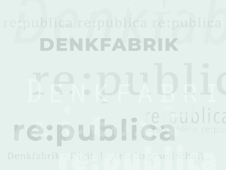Collage verschiedener Denkfabrik buzzwords
