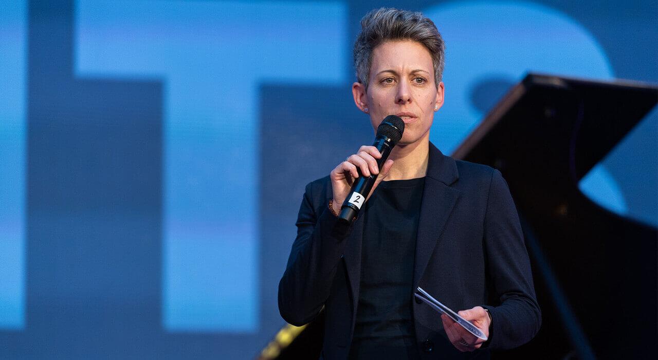 Begrüßung durch die Leiterin der Abteilung Digitalisierung und Arbeitswelt, Dr. Julia Borggräfe