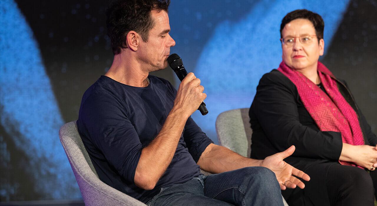 Regisseur und Drehbuchautor Tom Tykwer in der Gesprächsrunde