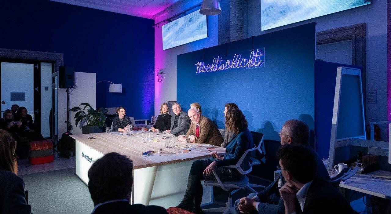 Das Panel aus der Sicht des Publikums