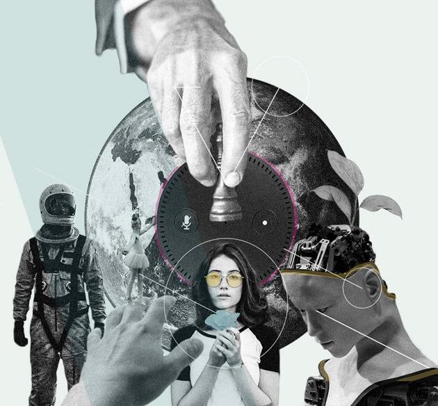 Collage zum Thema Mach und Kooperation
