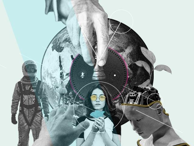 Collage zum Thema Machtbeziehungen
