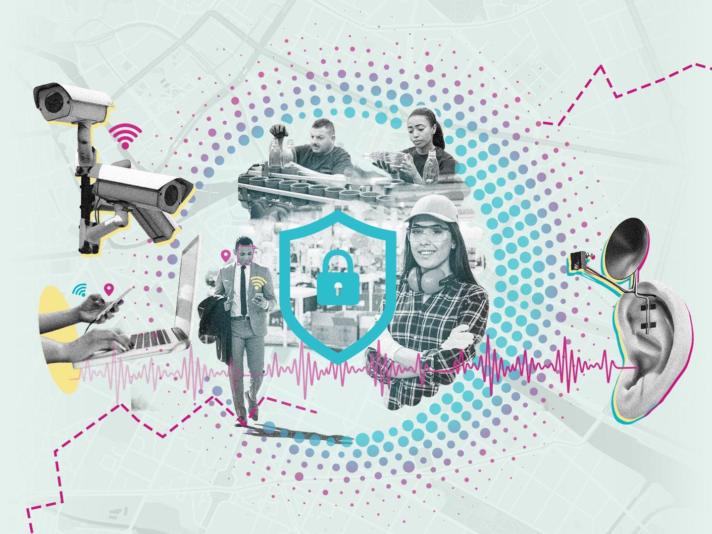 Collage zum Thema Beschäftigtendatenschutz