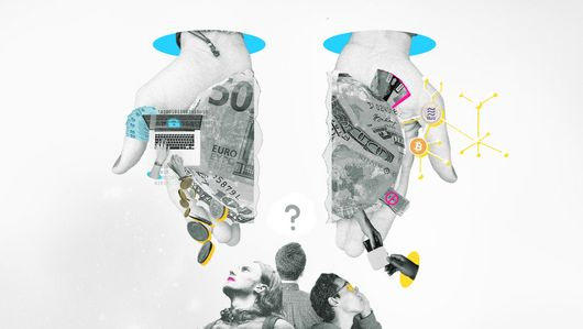Collage on the topic of money. Night Shift: Discussion on the topic money