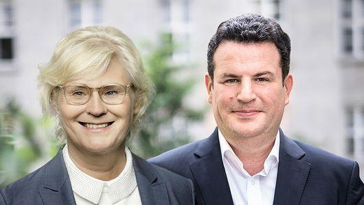 Christine Lambrecht und Hubertus Heil. Öffnet Seite: : So schaffen wir die soziale digitale Marktwirtschaft