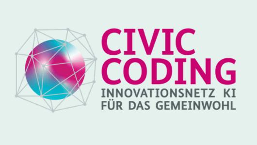 Logo Civic Coding. Öffnet Seite: : Civic Coding – Innovationsnetz KI für das Gemeinwohl