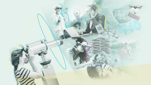 Collage Arbeitsgesellschaft 2040