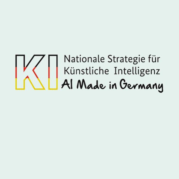 Logo Nationale Strategie für Künstliche Intelligenz - AI Made in Germany